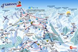 На курорте Вербье есть сноу-парк Snowpark La Chaux, с... Наверх.  Схема трасс.